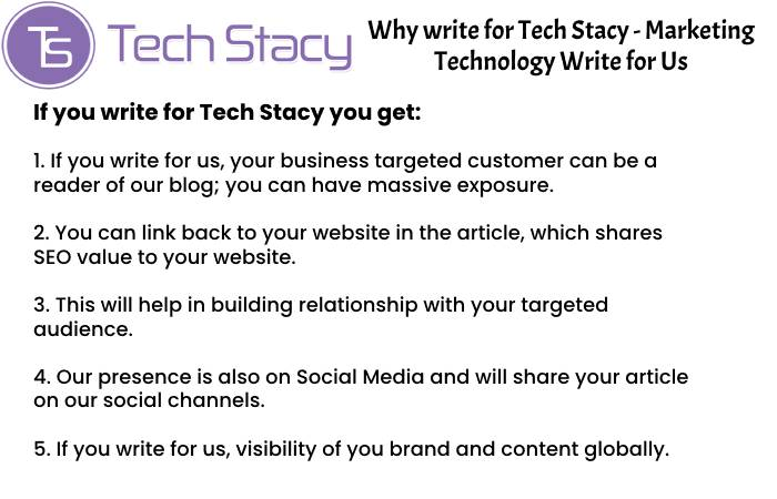 Marketing Technology Why Write for Us