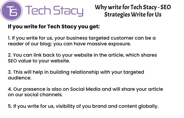 SEO Strategies Why Write for Us