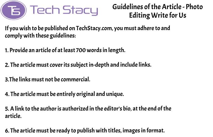 guidelines Photo Editing write for PSD3(2)(7)