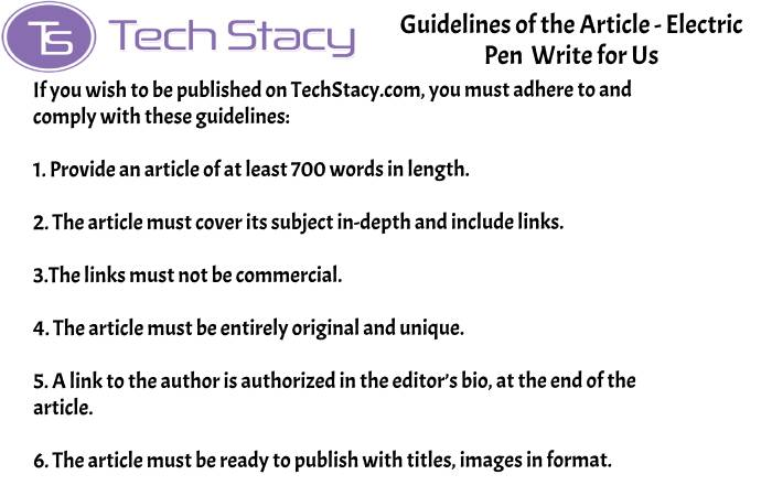 guidelines Electric Pen write for PSD3(2)(44)